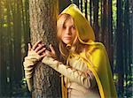 Blond girl dressed in dress walk in a magic forest Stock Photo - Royalty-Free, Artist: Fotolit                       , Code: 400-05906878