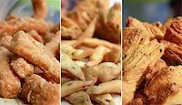 punjabi - collage of sweet and salty snacks and pastries Stock Photo - Royalty-Freenull, Code: 400-05907406