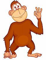 Vector Illustration Of Funny Monkey Stock Photo - Royalty-Freenull, Code: 400-05907600