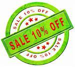 sale 10% off red text on green sales on online web shop intenet shopping icon or button Stock Photo - Royalty-Free, Artist: kikkerdirk                    , Code: 400-05907612