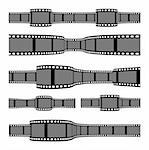 Film strip banners on white background. Horizontal orientation Stock Photo - Royalty-Free, Artist: sermax55                      , Code: 400-05907779
