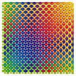 3d illustration of colorful wave background