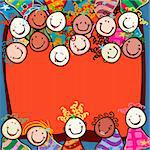 happy kids with smiling faces Stock Photo - Royalty-Free, Artist: dip                           , Code: 400-05908032