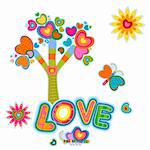 love, retro fantasy tree Stock Photo - Royalty-Free, Artist: dip                           , Code: 400-05908034