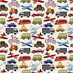 seamless transport pattern Stock Photo - Royalty-Free, Artist: notkoo2008                    , Code: 400-05908136