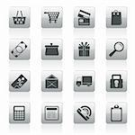 Online shop icons - vector  icon set Stock Photo - Royalty-Free, Artist: stoyanh                       , Code: 400-05908285