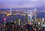 Hong Kong city view from the peak Stock Photo - Royalty-Free, Artist: leungchopan                   , Code: 400-05908524