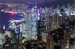 Hong Kong in night Stock Photo - Royalty-Free, Artist: leungchopan                   , Code: 400-05908525
