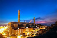 coal power station and night blue sky Stock Photo - Royalty-Freenull, Code: 400-05908954