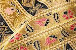 Gold embroidered pattern. Ukrainian ethnic ornament Stock Photo - Royalty-Free, Artist: ucasper                       , Code: 400-05908995
