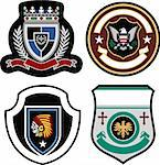 classic badge shield collection Stock Photo - Royalty-Free, Artist: pauljune                      , Code: 400-05909208