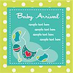 Baby arrival for boys, vector illustration