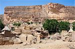 The principal Dogon area is bisected by the Bandiagara Escarpment.  The Dogon are best known for their mythology, their mask dances, wooden sculpture and their architecture. Stock Photo - Royalty-Free, Artist: michelealfieri                , Code: 400-05910051