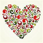 Romantic floral design Valentines heart design. Vector file available. Stock Photo - Royalty-Free, Artist: cienpiesnf                    , Code: 400-05910295