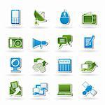 Communication and Technology icons - Vector Icon Set Stock Photo - Royalty-Free, Artist: stoyanh                       , Code: 400-05910454