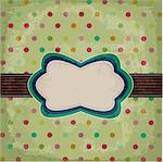 vintage polka dot design Stock Photo - Royalty-Free, Artist: lemony                        , Code: 400-05910674