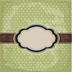 Vintage Polka Dot Design Stock Photo - Royalty-Free, Artist: lemony                        , Code: 400-05910682