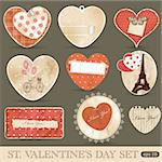 St Valentine's day scrapbook design elements Stock Photo - Royalty-Free, Artist: 578foot                       , Code: 400-05910705