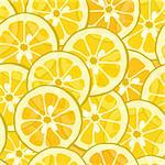 Vector pattern with yellow lemon and orange Stock Photo - Royalty-Free, Artist: fandorina                     , Code: 400-05910932