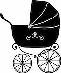 Baby Stroller over white (Silhouette) EPS 10, AI, JPEG Stock Photo - Royalty-Free, Artist: jara3000                      , Code: 400-05910949