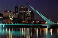 puentes - Bridge of the Woman (Puente De La Mujer) by night, Buenos Aires, Argentina  Stock Photo - Royalty-Freenull, Code: 400-05911261