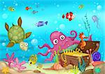 illustration of a sea life Stock Photo - Royalty-Free, Artist: nem4a                         , Code: 400-05911274