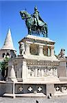 Saint Istvan statue and fisherman's bastion in Budapest, Hungary Stock Photo - Royalty-Free, Artist: vladacanon                    , Code: 400-05911467