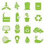 Eco, recycling and clean energy icons Stock Photo - Royalty-Free, Artist: soleilc                       , Code: 400-05911857