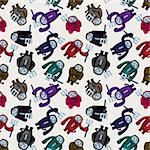 cartoon halloween ghost seamless pattern   Stock Photo - Royalty-Free, Artist: notkoo2008                    , Code: 400-05911964