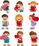 set of kid hug heart Stock Photo - Royalty-Free, Artist: notkoo2008                    , Code: 400-05911966