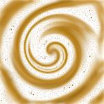 Editable vector background illustration of swirly foam on coffee made using a gradient mesh Stock Photo - Royalty-Free, Artist: tawng                         , Code: 400-05911997