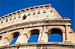 Colosseum in Rome with blue sky, landmark of the city Stock Photo - Royalty-Free, Artist: Perseomedusa                  , Code: 400-05912034