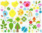 spring elements set Stock Photo - Royalty-Free, Artist: dip                           , Code: 400-05913231