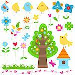 spring elements set Stock Photo - Royalty-Free, Artist: dip                           , Code: 400-05913275