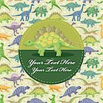 dinosaur card Stock Photo - Royalty-Free, Artist: notkoo2008                    , Code: 400-05913655