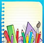 Notepad blank page and stationery 2 - vector illustration. Stock Photo - Royalty-Free, Artist: clairev                       , Code: 400-05913707