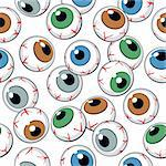 Eyeballs seamless background. Vector Illustration Stock Photo - Royalty-Free, Artist: fixer00                       , Code: 400-05914319