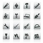 Building and Construction Tools icons - Vector Icon Set Stock Photo - Royalty-Free, Artist: stoyanh                       , Code: 400-05914398