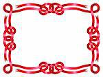 Red ribbon frame isolated on white background Stock Photo - Royalty-Free, Artist: 100ker                        , Code: 400-05914813