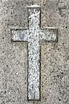 Cross carved in gray granite Stock Photo - Royalty-Free, Artist: Taigi                         , Code: 400-05914942