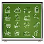 Shopping and website icons - vector icon set