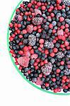 Frozen mixed fruit in bowl - berries - red currant, cranberry, raspberry, blackberry, bilberry, blueberry, black currant Stock Photo - Royalty-Free, Artist: brozova                       , Code: 400-05915114