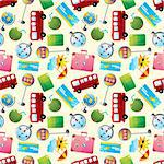 travel icons seamless pattern   Stock Photo - Royalty-Free, Artist: notkoo2008                    , Code: 400-05915334