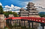 Beautiful medieval castle Matsumoto in the eastern Honshu, Japan Stock Photo - Royalty-Free, Artist: Fyletto                       , Code: 400-05915367