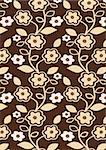 Autumn Flowers Pattern - Seamless abstract floral background - vector include pattern source - easy to modify