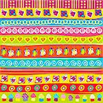 Background with colored doodle elements Stock Photo - Royalty-Free, Artist: hibrida13                     , Code: 400-05915832