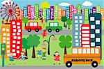 Doodle city for children
