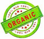 organic 100% bio label Stock Photo - Royalty-Free, Artist: kikkerdirk                    , Code: 400-05915943