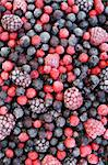 Close up of frozen mixed fruit  - berries - red currant, cranberry, raspberry, blackberry, bilberry, blueberry, black currant Stock Photo - Royalty-Free, Artist: brozova                       , Code: 400-05917111