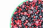 Frozen mixed fruit in bowl - berries - red currant, cranberry, raspberry, blackberry, bilberry, blueberry, black currant Stock Photo - Royalty-Free, Artist: brozova                       , Code: 400-05917112